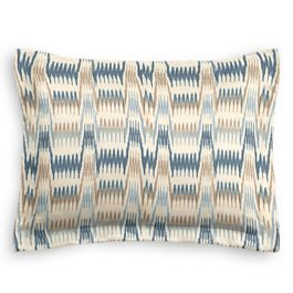 Tan & Blue Flame Stitch Sham