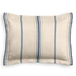 Blue Burlap-Style Stripe Sham