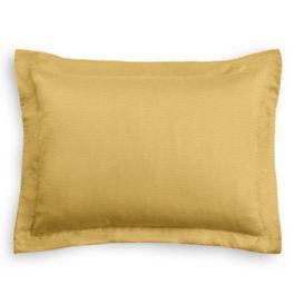 Dark Gold Slubby Linen Sham