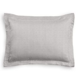 Purple Gray Slubby Linen Sham