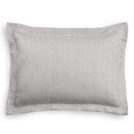 Purple Gray Slubby Linen Sham