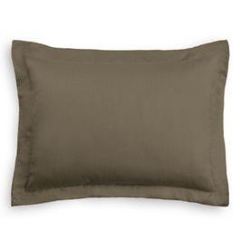 Dark Brown Slubby Linen Sham