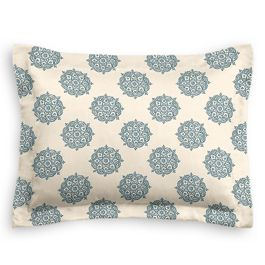 Blue Medallion Block Print Sham