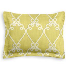 Embroidered Green Scroll Sham