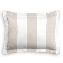 Light Beige Awning Stripe Sham