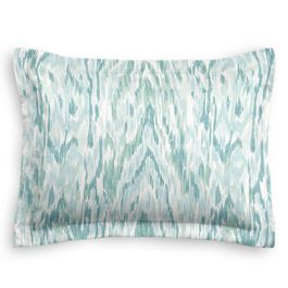 Aqua Blue Watercolor Sham