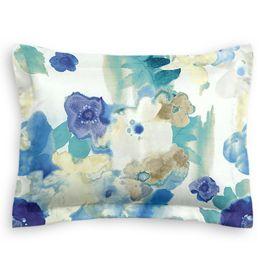 Aqua & Blue Watercolor Sham