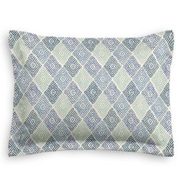 Blue Diamond Block Print Sham