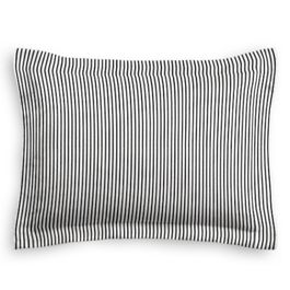 Black Ticking Stripe Sham