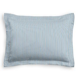 Blue Ticking Stripe Sham