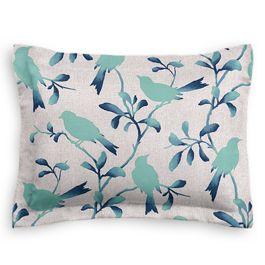 Aqua Blue Bird Sham
