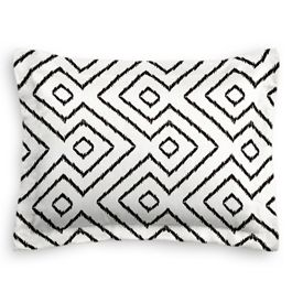 Black & White Diamond Sham