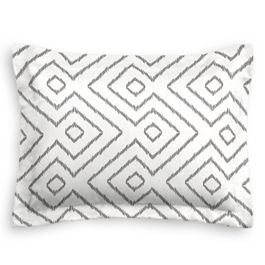 White & Gray Diamond Sham