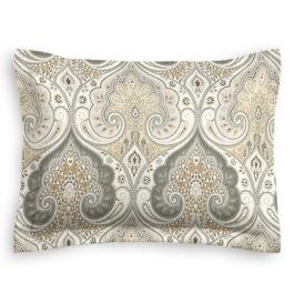 Gray & Tan Paisley Sham