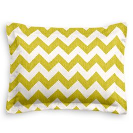 Lime Green Chevron Sham