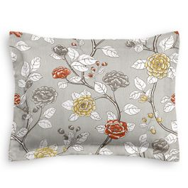 Modern Gray Floral Sham