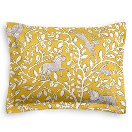 Yellow Animal Motif Sham