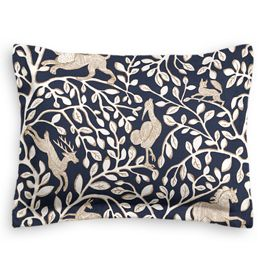 Navy Blue Animal Motif Sham