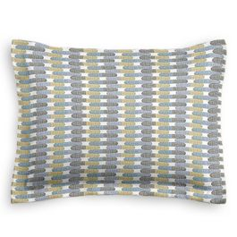 Yellow & Blue Mod Geometric Sham