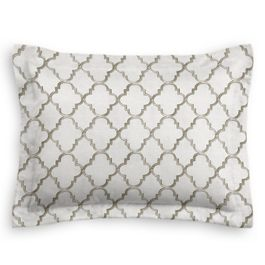 Embroidered Silver Quatrefoil Sham
