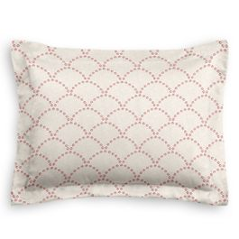 Embroidered Pink Scallop Sham