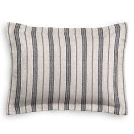 Rustic Gray Stripe Sham