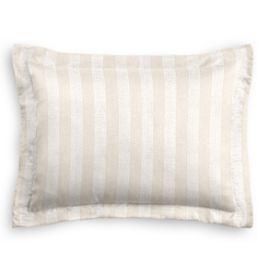 Ivory & Silver Stripe Sham