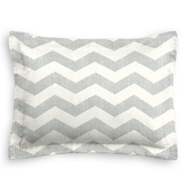 Light Gray Chevron Sham