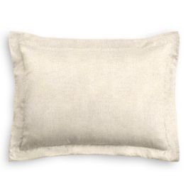 Golden White Metallic Linen Sham