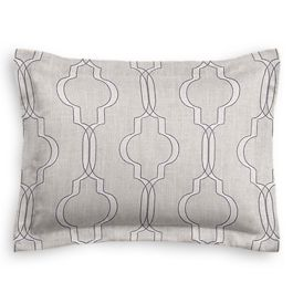 Embroidered Gray Trellis Sham