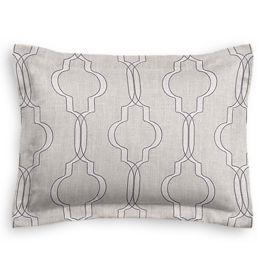 Embroidered Gray Trellis Sham