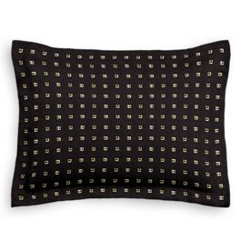 Gold Studded Black Sham