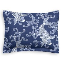 Royal Blue Koi Fish Sham