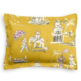 Purple & Yellow Chinoiserie Sham
