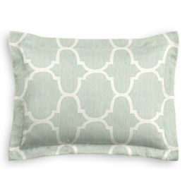 Sea Green Quatrefoil Sham