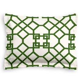 Asian Green Trellis Sham