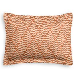 Tribal Orange Diamond Sham