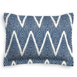 Tribal Navy Blue Chevron Sham