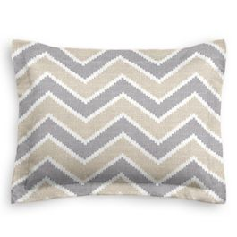 Tan & Gray Chevron Sham