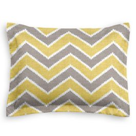 Gray & Yellow Chevron Sham