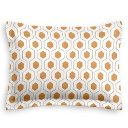 Beige & Orange Hexagon Sham