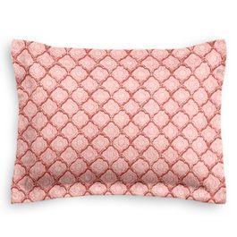 Pink Block Print Sham