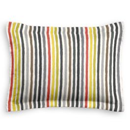Gray & Red Stripe Sham