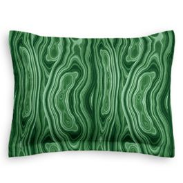 Marbled Green Malachite Sham