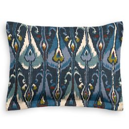 Navy Blue Ikat Sham