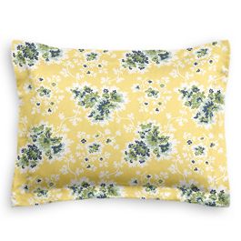Yellow & Green Leaf Sham
