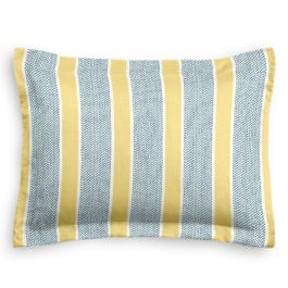 Teal & Yellow Stripe Sham