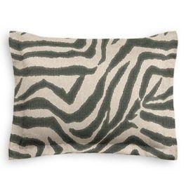 Dark Taupe Zebra Sham