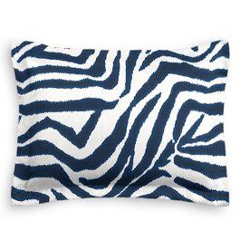 Blue Zebra Print Sham