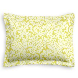 Lemon Yellow Brocade Sham